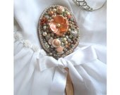 RESERVED FOR ERIN, Vintage  Peach Mirror