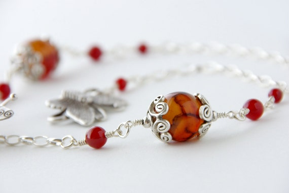 Necklace- I Dream of Monarch Butterflies