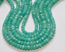 """AAA 9"""" 4.5mm Amazonite faceted beads amz001"""