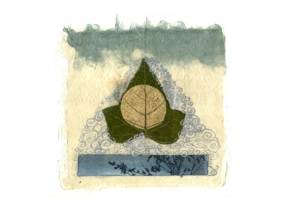 Mantra, original mixed media collage