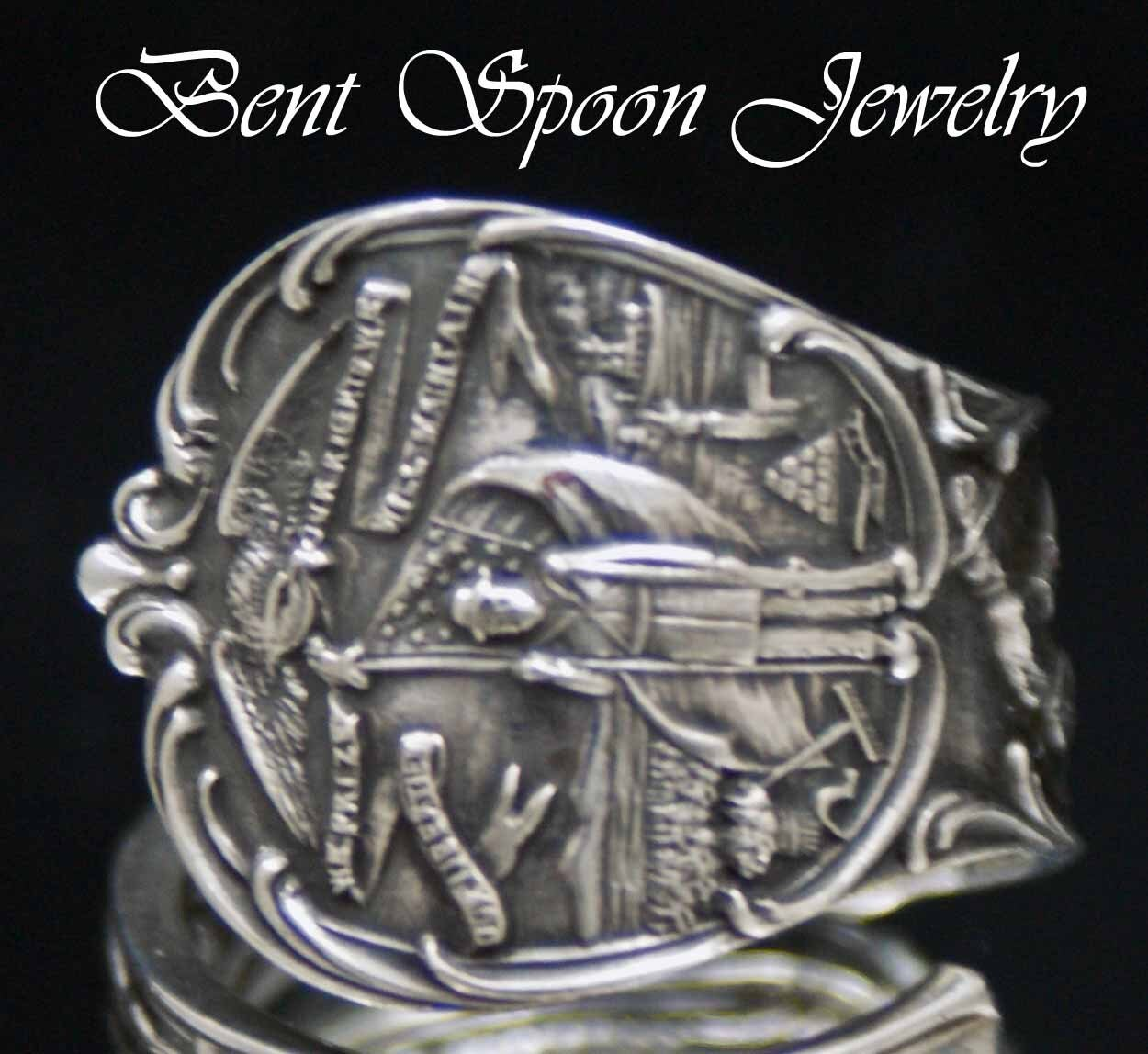 sterling spoon ring sterling silver iowa unisex spoon ring