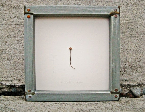 The Longinus Mushroom-- tiny mushroom in rusted tin