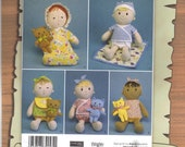 Plush Dolls and Animals Simplicity Sewing Pattern 2809