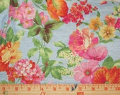 Romantic Roses and Poppies Knit Fabric