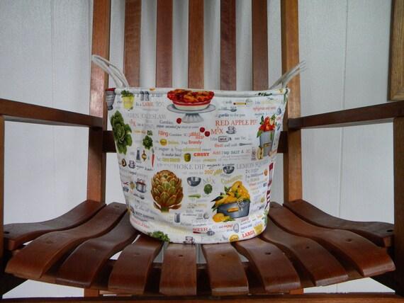 Large Fabric Bucket: Garden Fabric