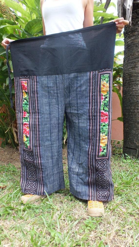 Ethnic handmade vintage fabric trousers