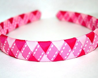 Pretty in Pink Woven Headband