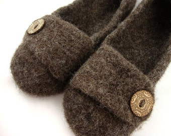 Bark Womens Felted Wool Slippers
