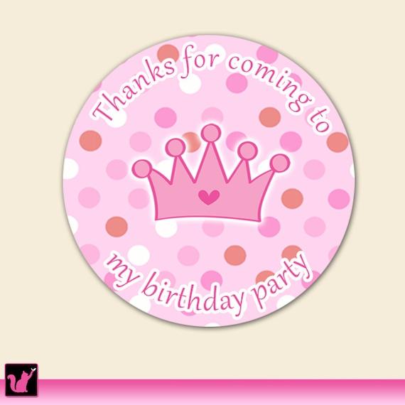 Printable princess crown thank you tags - Baby Girl Shower or Birthday ...