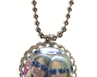 Photo Bottle Cap Pendant