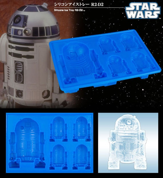 Food Grade Mold - Star Wars Series - R2-D2 - Ice, Coffee, Jelly, or Chocolate mold
