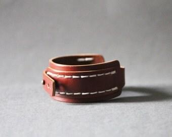 Big Stitch Leather Bracelet(Calf)