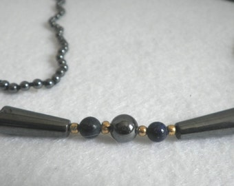 Marcasite Lapis Lazulis Beaded Necklace