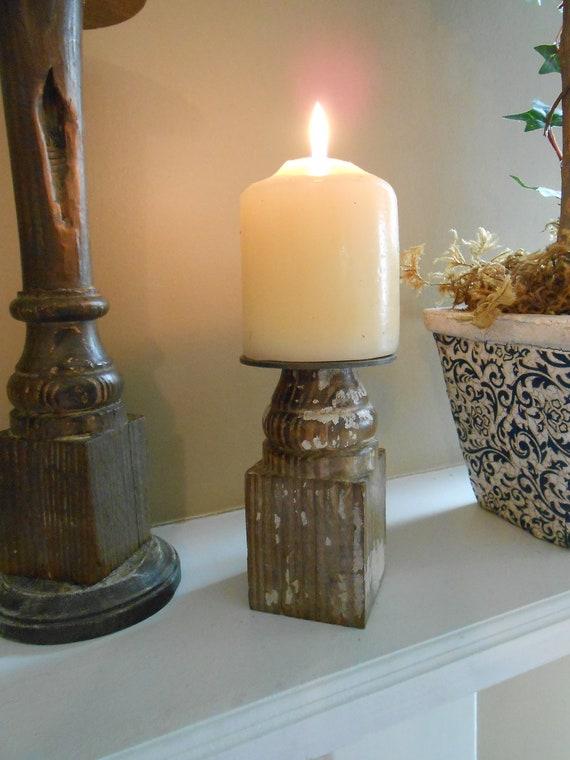 Vintage Porch Spindle Candle Holder