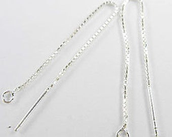 2 pairs of 925 Sterling Silver Ear Threads 55 mm. :th1133