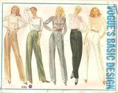 Vintage Vogue Pattern 2761 Womens Pants Slacks Straight Legged Classic Basic Design Hipster Retro Pleated Flat Front Size 12 UNCUT Unused FF