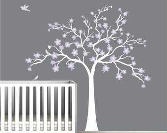 Wall Decals Vinyl Art Sticker Cherry-Blossom Tree