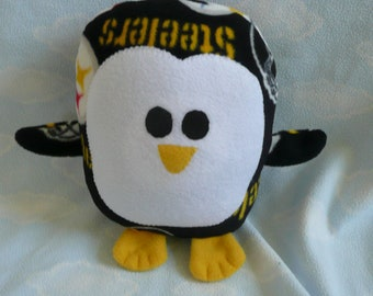 Plush Pittsburgh Steelers Penguin Pillow Pal, Baby Safe, Machine Wash and Dry