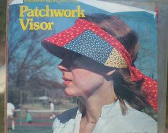Vintage 70s Yours Truly Calico Patchwork Visor Kit Unopened NIP