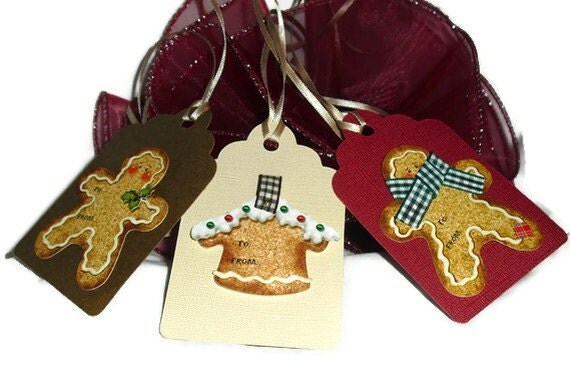 Gingerbread Gift Tag Set of 3
