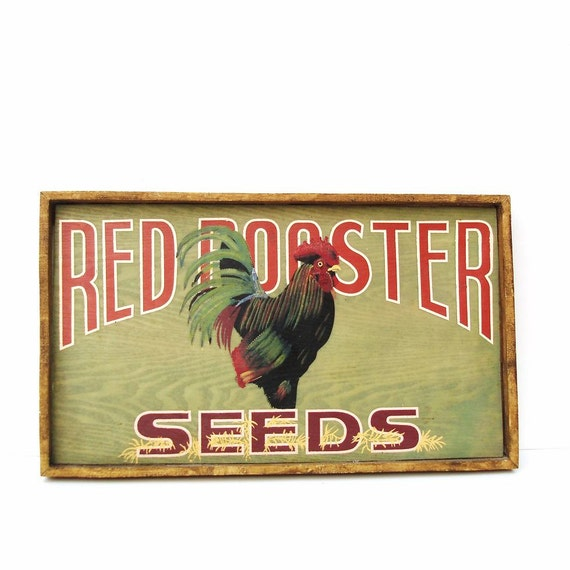 Rooster Sign Wooden Signs Wood Serving Tray Country By Whimzythyme