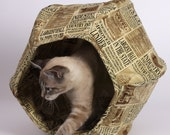 Cat Ball Modern Kitty Cave Bed with Steampunk Attitude