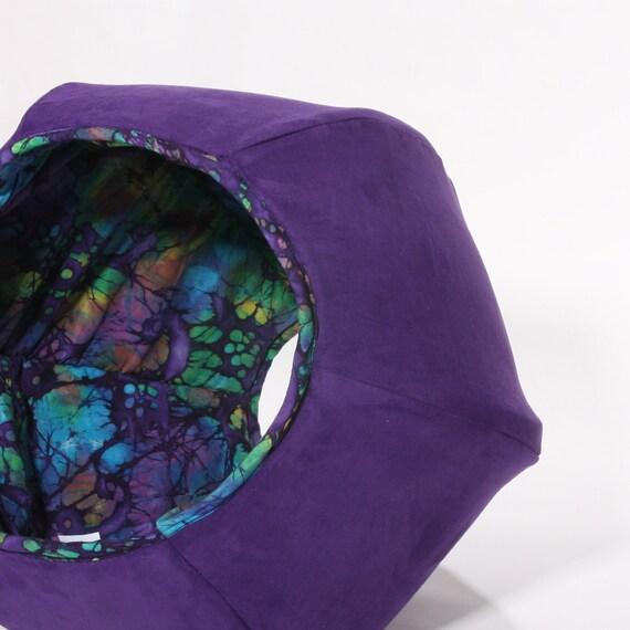 Cat Ball Modern Cat Bed in Purple Suede Microfiber