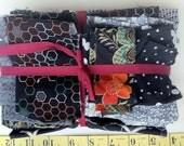 BLACK and white scrap pack de-stash fabric bundle liberty japanese ikea