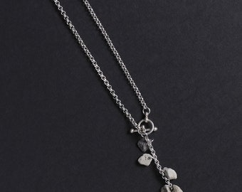 Stonewear - Sterling silver Y necklace