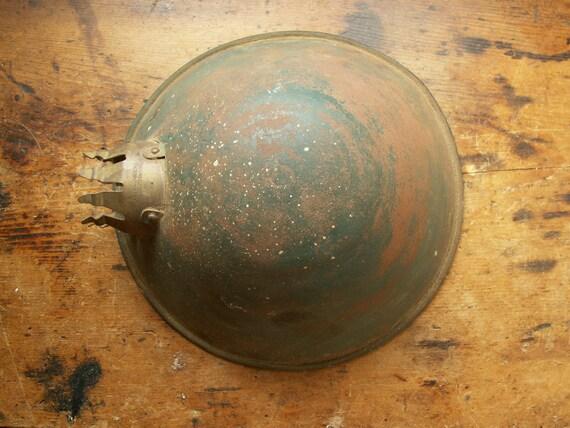 Vintage Green Round Task Lamp Shade - Faries, 1895