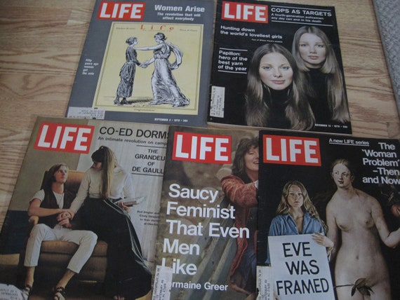 Lot of 5 Vintage LIFE Magazines 1970s Feminism, Womens' Issues and more MAG110