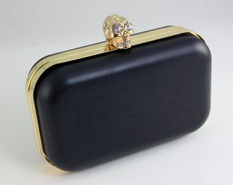 6 1/4 x 4 inches ( 16 x 10 cm) - Skull Dressing Case Golden Clutch Frame with Covers (CBF-M10)