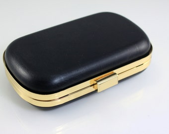 6.5 x 3 3/4 inches - Golden  Rounded Edge Shape Dressing Case with Chain Loops (CBF-M34)