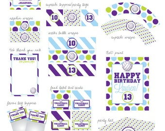 Volleyball Party - Printable Designs