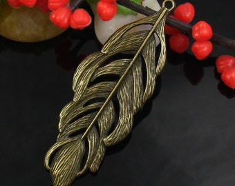 4pcs Large Feather Charm-FH03