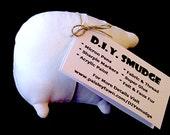 Blank White DIY Smudge Plush: Itty Bitty Customizable Art Toy