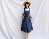 Vintage Denim Jumper Dress