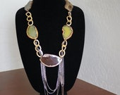 Handmade Agate Slice Statement Necklace - Free USA Shipping