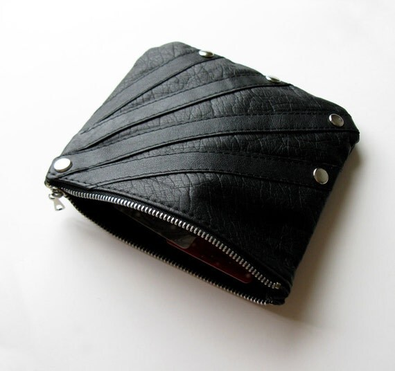 Rays Leather Purse, Eco Design, made from recycled leather