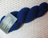 Yarn DeStash Cascade 220 Fingering Yarn Hank Navy Blue Color 9568 100% Peruvian Highland Wool 273 Yards