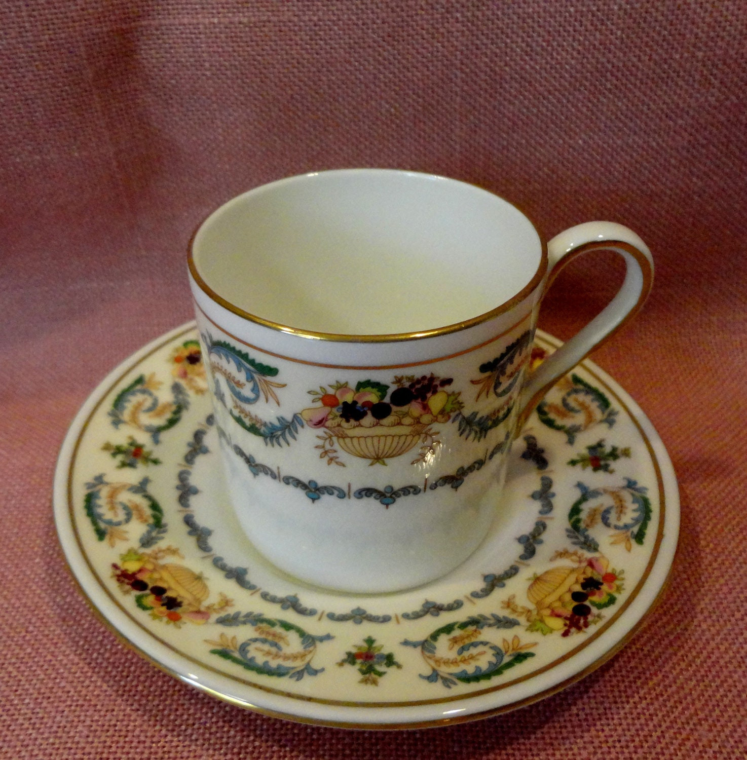 aynsley demitasse cup and saucer made in england banquet. Black Bedroom Furniture Sets. Home Design Ideas