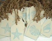 100 Beach Wedding Tags to AUSTRALIA Shell Tags, Starfish Tags, Seashells, Seahorses, Beach Themed Tags, Labels, or Favors.Wish Cards.