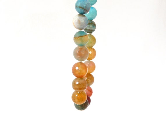HORIZON. ombre quartz necklace in beautiful chunky agate stones. honey gold, mustard, camel, turquoise, teal, brown, white