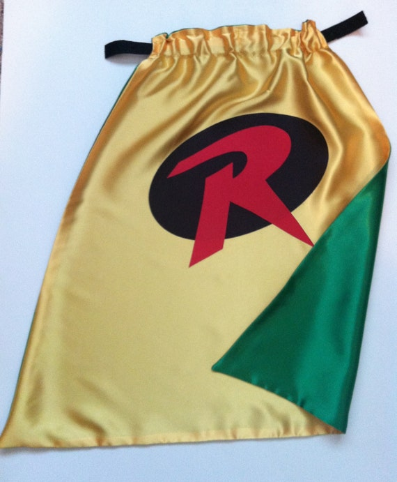 Robin Cape -  Yellow and Black or Green - Size MEDIUM