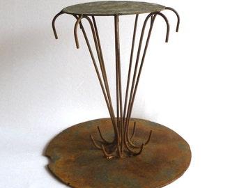 WELDED IRON BASE / Vintage ooak Welding