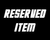 Reserved item for Marco F.