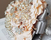 Vintage Bridal Brooch Bouquet -Pearl Rhinestone Crystal- Limited Time Offer -Lowest Price Ever- BB019LX