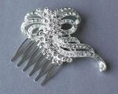 SALE Rhinestone Bridal Hair Comb Accessory Wedding Jewelry Crystal Flower Side Tiara CM042Lx