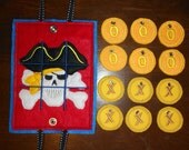 In The Hoop Pirate Tic Tac Tote Embroidery Machine Design Game
