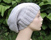 Custom Color Slouch Hat - Hand Knit  - Dragon Tattoo Inspired